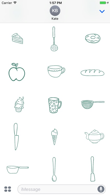 Animated Cute Kitchen Stickers screenshot-2