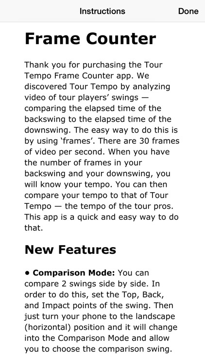 Tour Tempo Frame Counter Golf screenshot-3