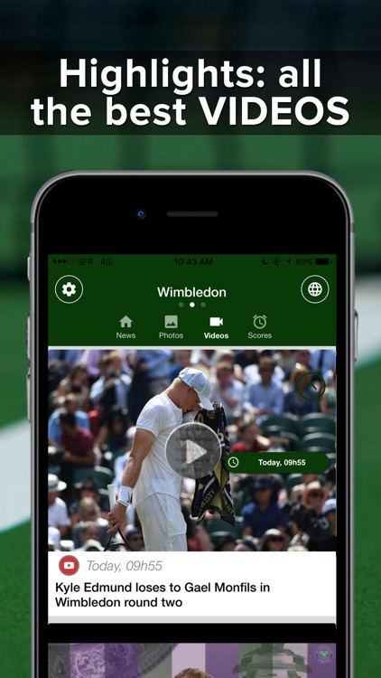 Tennis Addict : highlights, scores, french open