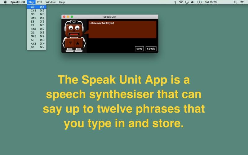 Speak Unit Screenshot
