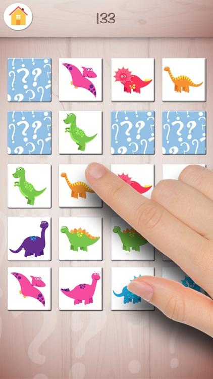 Memory dinosaurs – educational dinos memo game screenshot-3