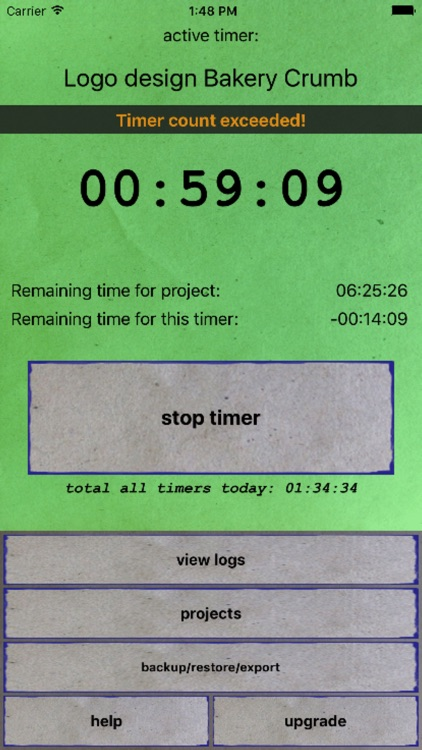 Project Time Log