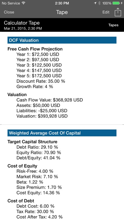 Business Valuation screenshot-3