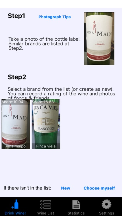 Wine Lover Log - recall memories by image matching