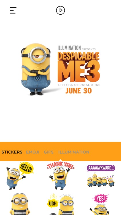 Despicable Me 3 Stickers App screenshot-1