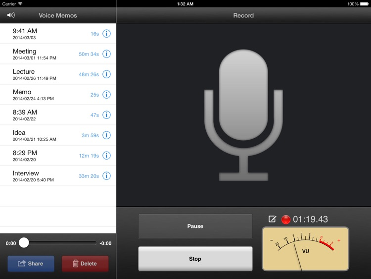 Voice Memos for iPad screenshot-4