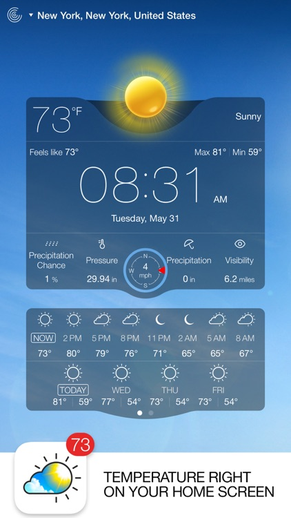 Weather Live - Weather Forecast, Radar and Alerts screenshot-0