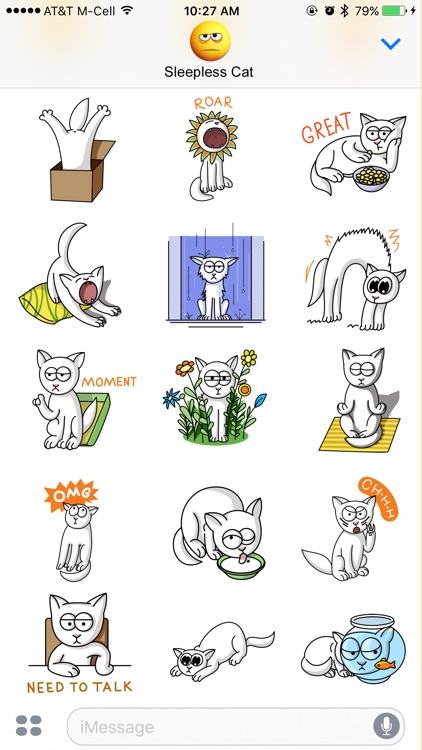 Sleepless Cat Stickers screenshot-4
