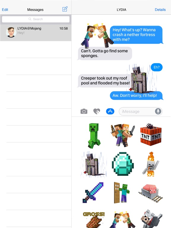 Screenshot #1 for Minecraft Sticker Pack