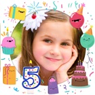 Birthday photo frames and stickers – Photo editor icon