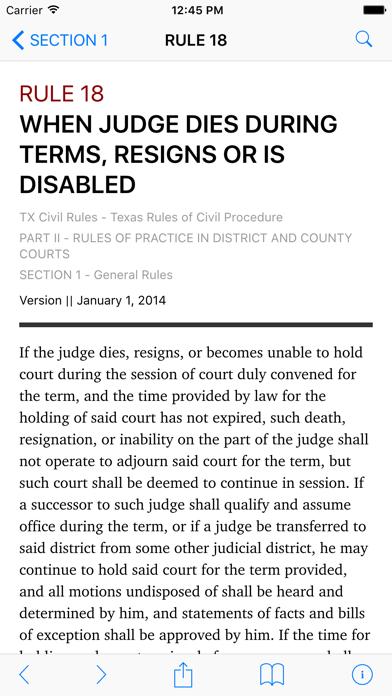 Texas Rules of Civil Procedure (LawStack's TX Law) screenshot two