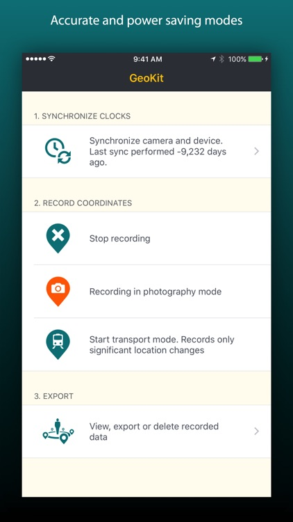 GeoKit for photographers - geotag with your phone