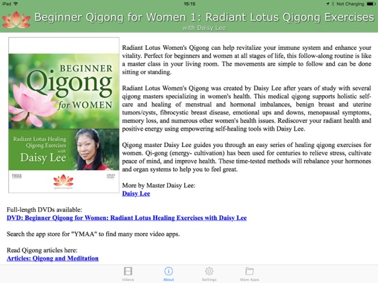 Beginner Qigong for Women 1 (YMAA)/ | App Price Drops