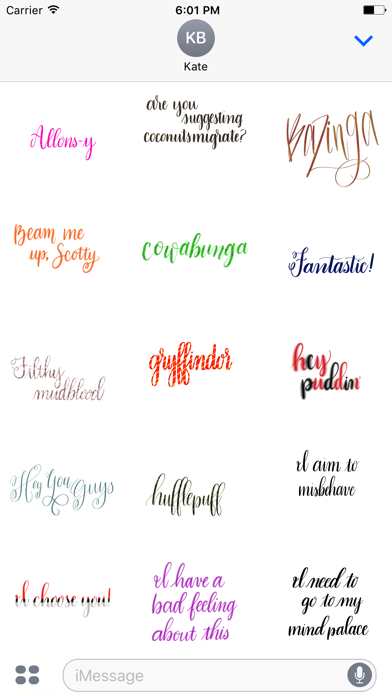 Take Heart Calligraphy Geek Sticker Pack