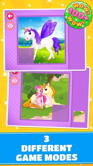 Cute Ponies & Unicorns Puzzles : Logic Game screenshot three