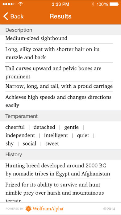Wolfram Dog Breeds Reference App screenshot three