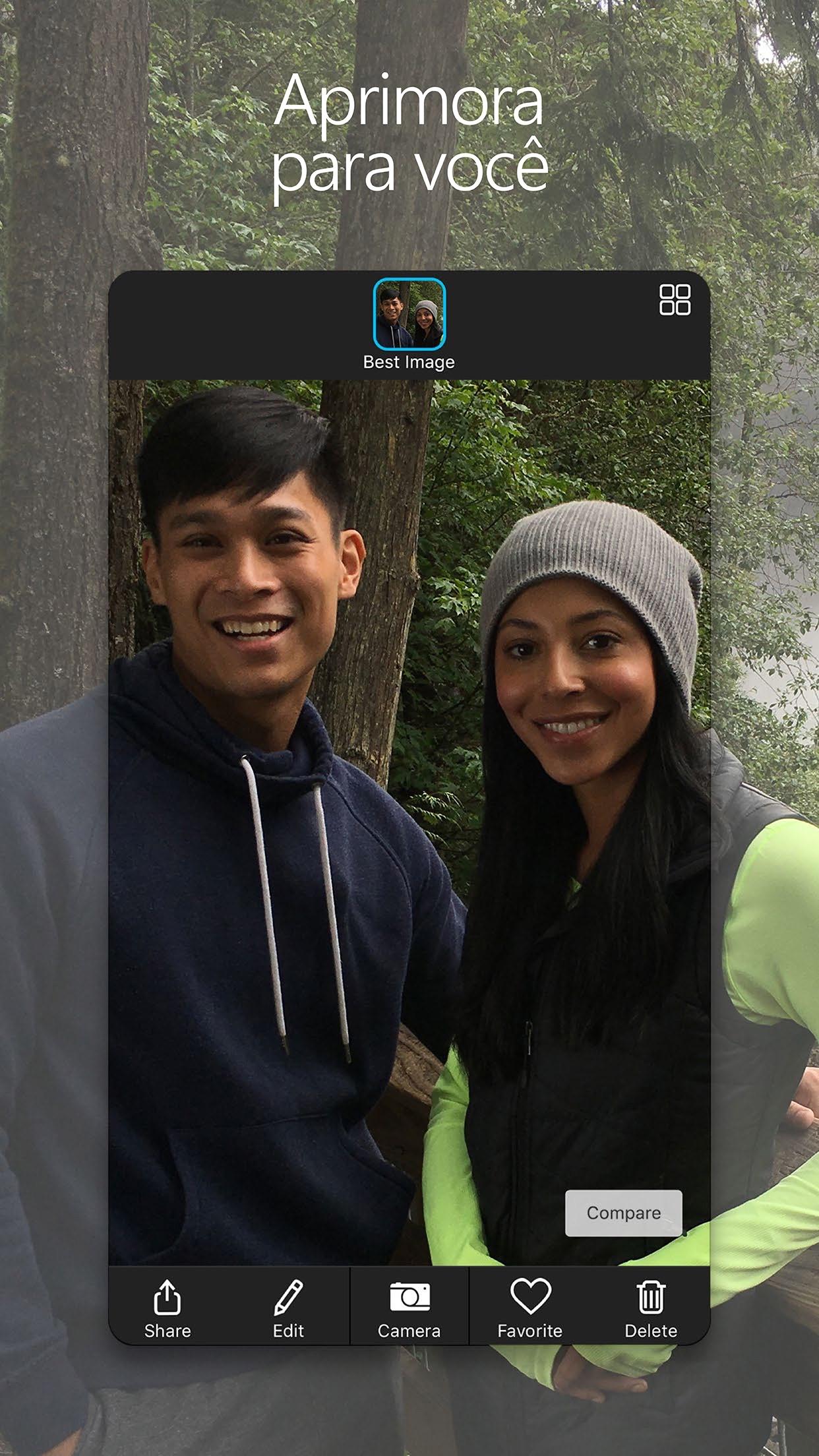 Screenshot do app Câmera Microsoft Xis