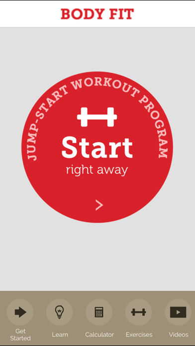 BodyFit - A Beginner's Guide to Fitness Screenshot