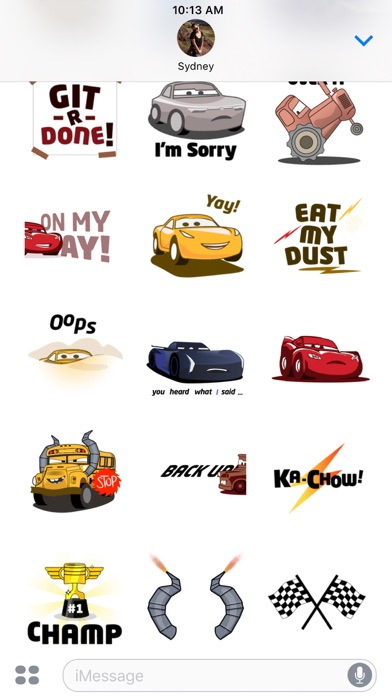 Pixar Stickers: Cars 3