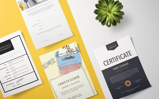 Design certificates templates on the mac app store yelopaper Image collections