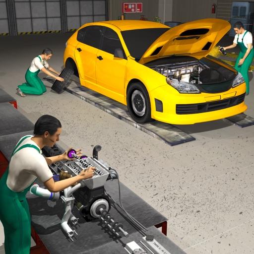 Auto Meccanico Motore Revisione Auto Riparare 3D
