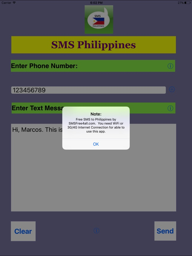 free text to philippines app