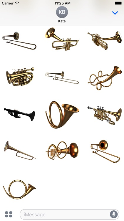 wind instrument sticker pack