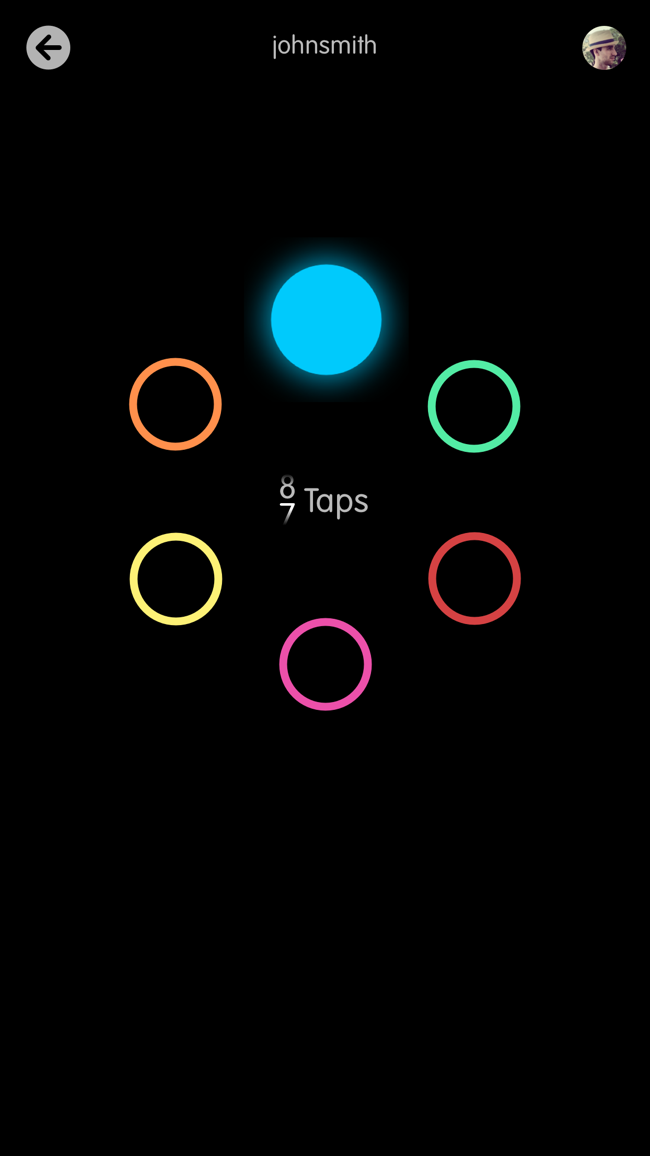 Circles Memory Game Screenshot