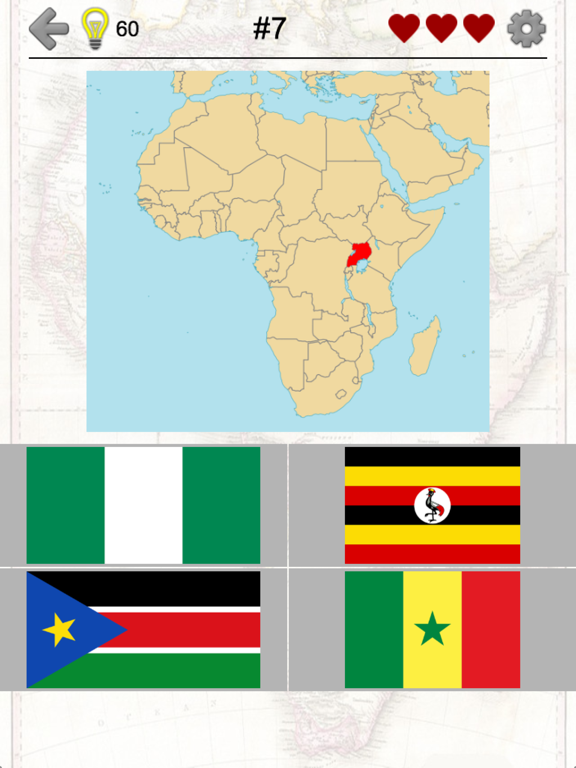 African Countries - Flags and Map of Africa Quiz Screenshots