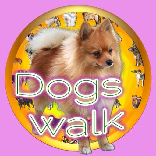 Dogs Walk Silhouette Touch :: Game with 109 Dogs