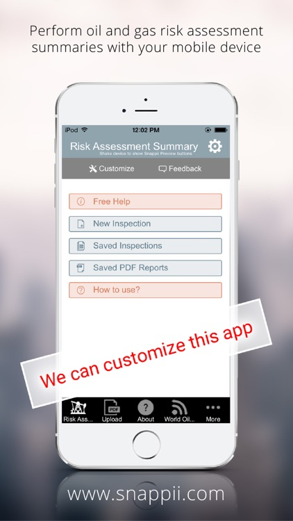 Oil and Gas Risk Assessment Summary App