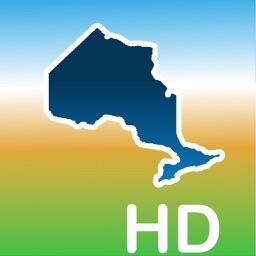 Aqua Map Ontario ON Lakes HD - GPS Nautical Charts