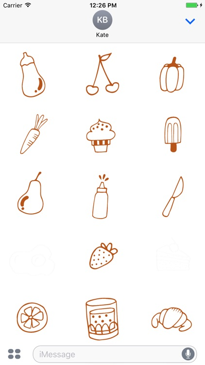 Animated Cute Food Stickers