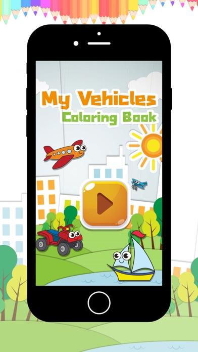 My Vehicles Coloring book screenshot four