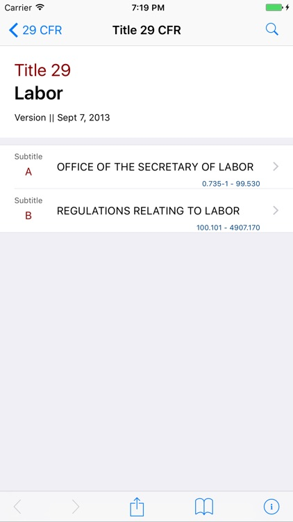 29 CFR - Labor (LawStack Series) screenshot-0