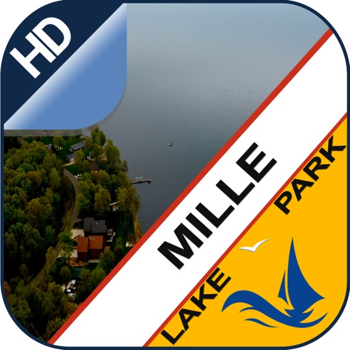 Mille Lacs offline GPS chart for lake & park trail