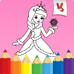 Princess coloring book for kids - Draw & Paint