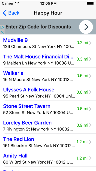 Bar & Happy Hour Finder: Find Your Nearest Bars screenshot two