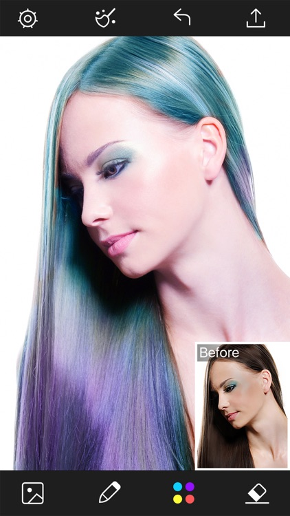 Hair Color Changer - Styles Salon & Recolor Booth screenshot-3