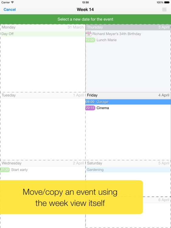 Easy Calendar for iPad screenshot-3
