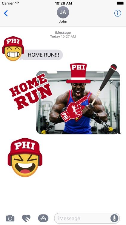 Philadelphia Baseball Stickers & Emojis