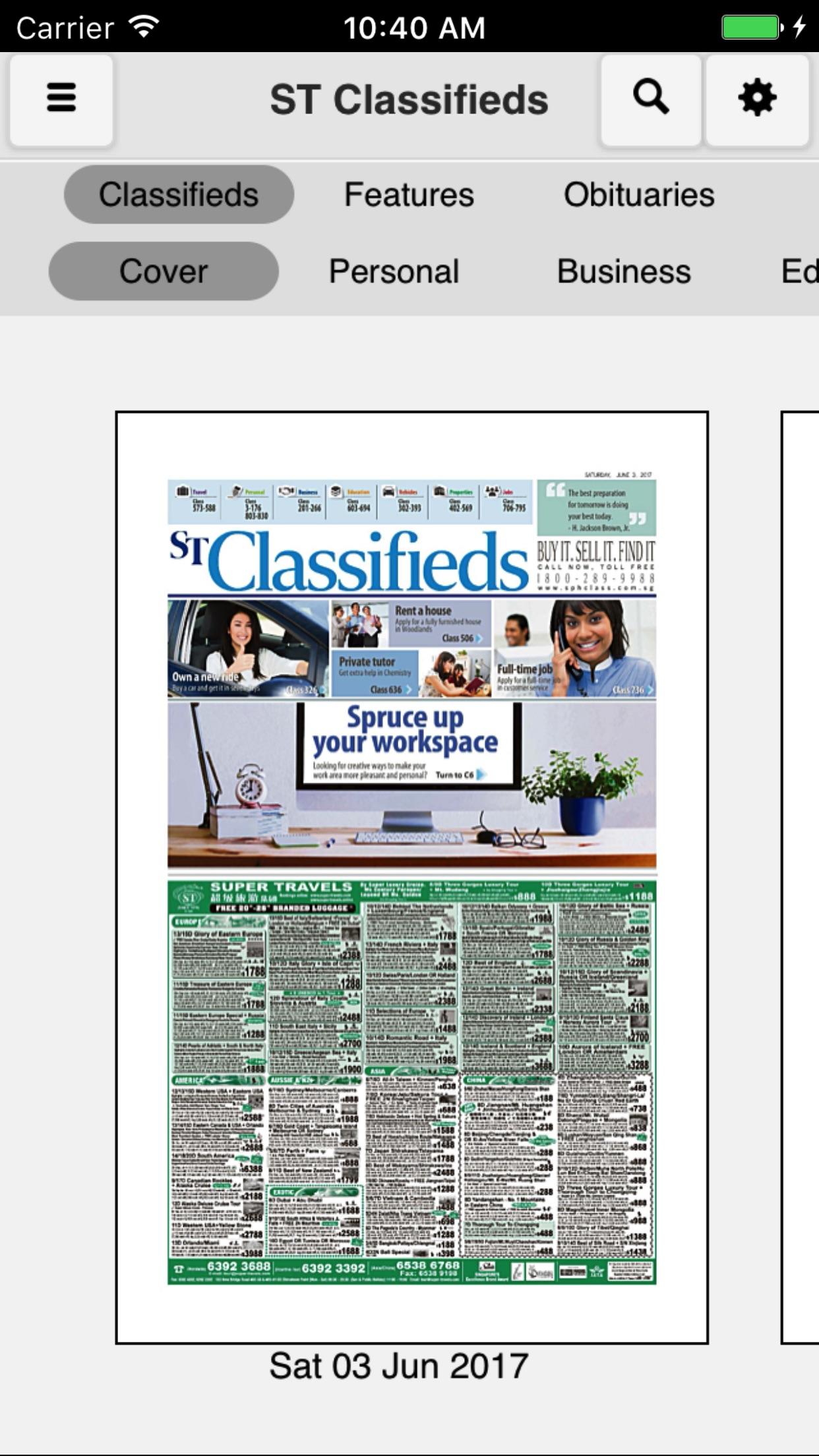 ST Classifieds Screenshot