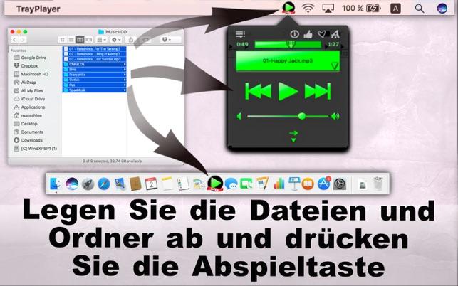 Tray Player Lite / App für MP3-Wiedergabe Screenshot
