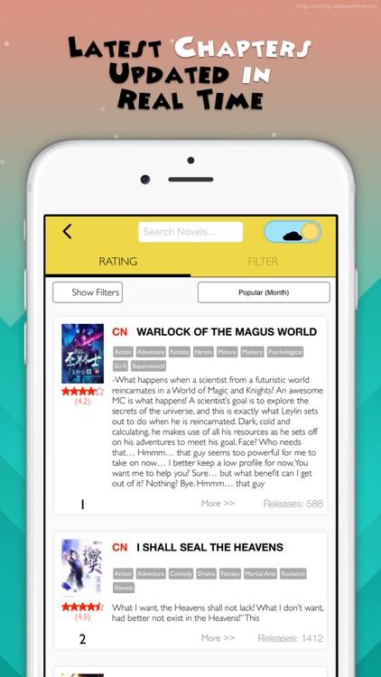 Wuxia Fantasy, Light & Web Novels screenshot-3
