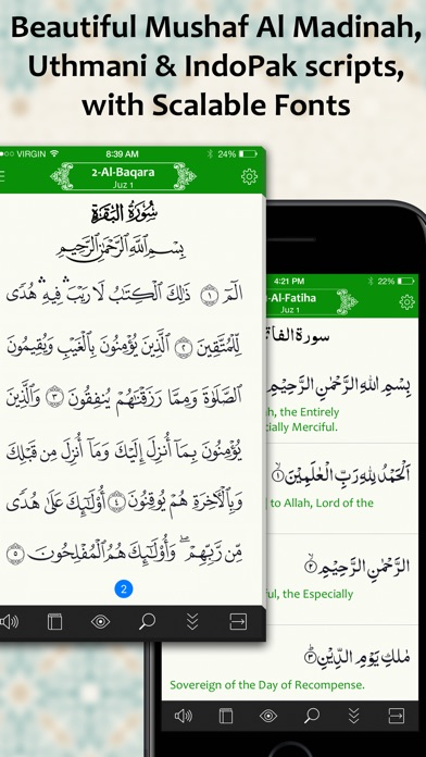 Quran Kareem: Translation, Recitation, Tafseer