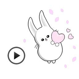 Fast Animated - Funny Cute Rabbit Sticker