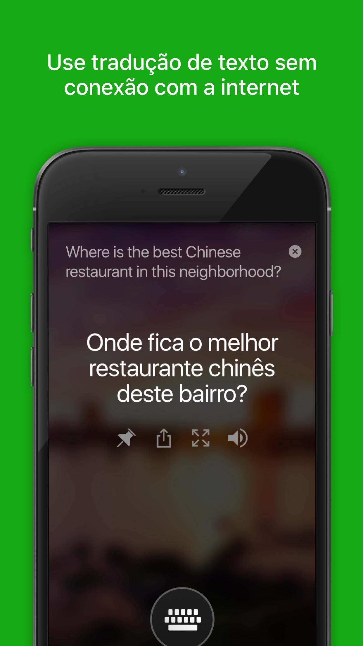 Screenshot do app Tradutor da Microsoft
