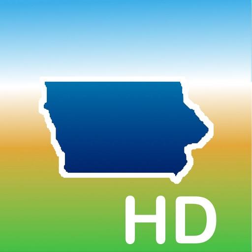 Aqua Map Iowa IA Lakes HD - GPS Nautical Charts