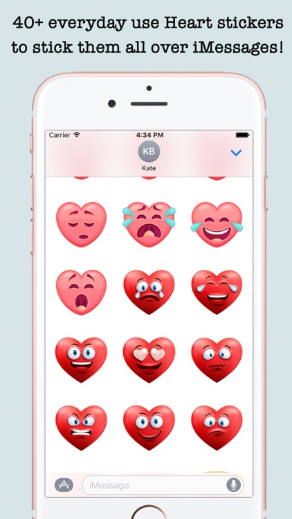 Romantic Heart Stickers For iMessage