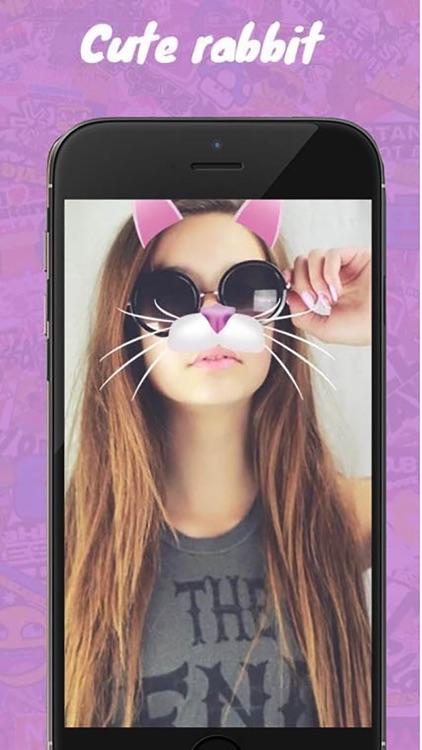 Beauty Girls Stickers : Face Camera